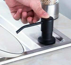 Liquid Soap Dispensers Kit Stainless Steel Head ABS Plastic Bottle Kitchen Sink