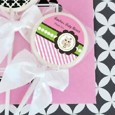 24 Pink Owl Personalized Lollipops Lollipop Baby Shower Birthday Favors