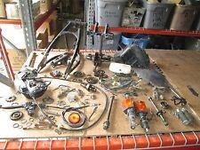 1983 Yamaha XT125 Regulator Triple Tree Swingarm Air Box Stand Etc Parts Lot