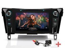 "Telecamera posteriore 8"" Navigatore DVD Autoradio GPS Per Nissan Qashqai X-Trail"