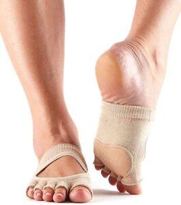 ToeSox Women's 186496 Releve Half Toe Grip Dance Toe Sock Size L