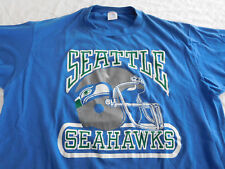 Vintage Seattle Seahawks Helmet Logo T Shirt Large Medium ? Russell