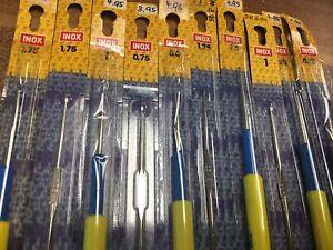 Häkelnadelset 10 Stück Häkelnadel Stricknadel 0,6-1,75 mm NEU s.FOTO (6u14-10)