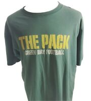Vintage Reebok Mens T Shirt Size XL Green Bay Packers Football NFL The Pack