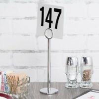 "12 PACK 8"" Stainless Steel Silver Menu Number Place Card Holder Restaurant Table"
