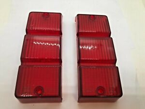 Alfa Romeo Alfa 6 Altissimo Tail Light Red Lens Set Genuine NOS