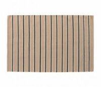 120 x 180cm Large Habitat Raya Flatweave Wool Pink Striped Rug Carpet Runner