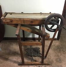 Rare 19th Century Treadle Powered Seed or Corn Kernel Machine - All Original