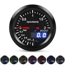 """2"""" 52mm Digital & Pointer 7 Color Led Car Turbo Boost Meter Bar Pressure Gauge"""