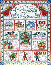 Cross Stitch Kit ~ Design Works The 12 Days Of Christmas Sampler #DW5435