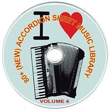80+ (NEW) CLASSIC ACCORDION SHEET MUSIC LIBRARY  - VOLUME 4