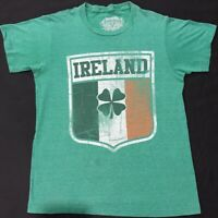 4d01eb09f Fifth Sun Ireland Flag St Patricks Day Four Leaf Clover T Shirt - Green  Mens Sm