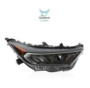 For 2019 2020 2021 Toyota RAV4 w/Chrome Bezel LED Headlight Headlamp Passenger