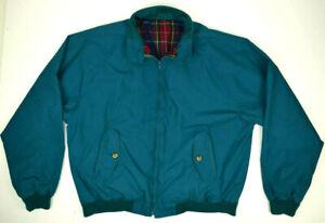 Vintage 80s Dark Teal Baracuta G9 Harrington Jacket by Zero King L/XL Raglan