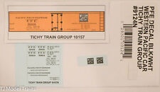 Tichy Train Group N #9124N PFE Decal (Blk/Wht) Western Pacific Car