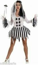 Sexy Escante Ghost Girl Halloween Costume Bride Bridal Dress Adult L NIP Skull