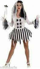 Sexy Escante Ghost Girl Black White Costume Bride Bridal Dress Adult L NIP Skull