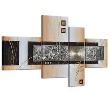abstrakte Kunst Handgemaltes Leinwandbild 120x70cm 4 teilig 3028