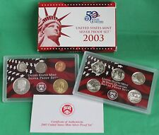 2003 United States Mint ANNUAL 10 Coin SILVER Proof Set