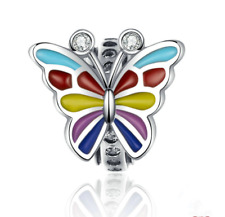 Fashion Butterfly Silver European Charm Spacer Beads Fit Necklace Bracelet hot -