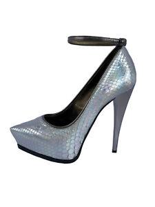 Lanvin Spring 2013 Holographic Silver Python Ankle Strap Stiletto (37)