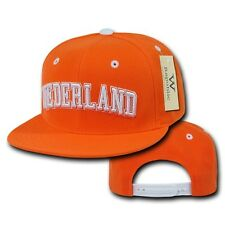 Netherlands Nederland Soccer Flat Bill Snapback Baseball World Cup Hat Cap