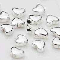 Lots 30Pcs Tibetan Silver Heart Shape Loose Spacer Bead Jewelry Making DIY 5x6MM