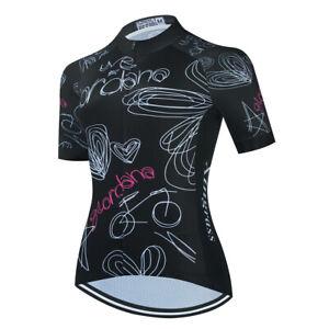 Women's Cycling Jersey Clothing Bicycle Sportswear Short Sleeve Bike Shirt J07