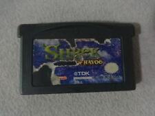 Shrek Reekin' Havoc Sticker Damaged Nintendo Gameboy Advance Cart Free Ship