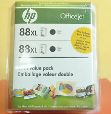 Genuine HP 88XL Ink Double Pack Black Expired Twin Value Pack