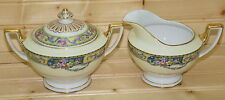 "Thomas Columbia Bavaria-Creamer, 3"" & Sugar Bowl, 3"" with Lid"