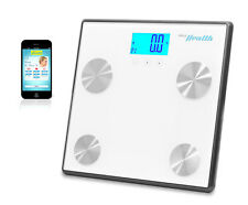 Pyle Health PHLSCBT4WT Bluetooth Digital Weight Personal Health Scale White