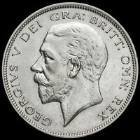 1933 George V Silver Half Crown, Scarce, GVF