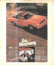 """(RST13) POSTER/ADVERT 13X11"""" THE FORD MUSTANG II"""