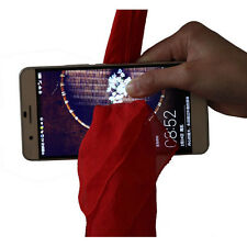 Magic Trick Red Silk Through Phone by Close-Up Street Magic Show Prop Nice Gift