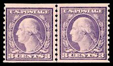 Us.#493 Weiss Cert. Wash/Frnk Coil Line Pair - Mognh - F/Vf $150.00 (Esp#4485)