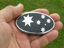 AUSSIE 75mm BLACK FLAG BADGE - SOUTHERN CROSS Metal Emblem *NEW* AUSTRALIA