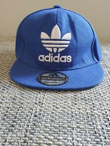 adidas Snapback Cap blau Logo Schirmmütze Basecap Cappi Baseballcap Mütze Hut