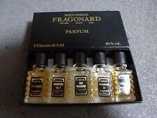 NEW IN BOX FRAGONARD PARFUM 5 MINIATURE BOTTLES FRANCE 2 ML EACH