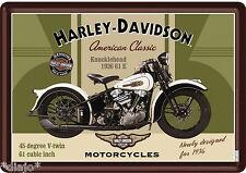 Nostalgic Art Blechschild HARLEY DAVIDSON Knucklehead 1936 61 E Blechpostkarte