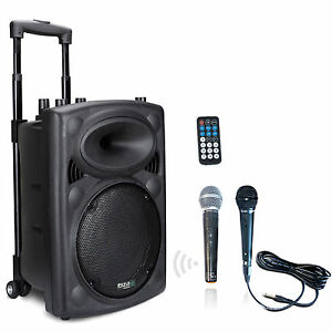 IBIZA PORT8 mobile Sound Beschallungsanlage PA DJ Box Bluetooth USB Akku Mikro
