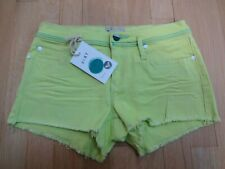 ROXY DENIM Lime Color Mini Shorts 3/26 NWT