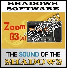 ZOOM G3(X) PEDAL  ART D'ECHO GENUINE SHADOWS SOUND (patches only NOT a pedal)