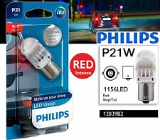 Philips P21W LED Exterior Lighti Red stop and tail signaling light BA15s 1156