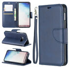 Blue Premium Leather case cover strap for Samsung iphone LG Sony MOTO Huawei
