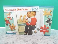 """New! Norman Rockwell  500 Pieces Puzzle """"The Muscleman""""(1937)"""