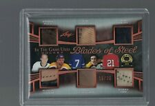 LEAF 19/20 BLADES OF STEEL CARD  # BS6-02 PATCH & JERSEY ORR HULL MAKITA HORTON