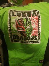 Lucha Dragons Lucha! Lucha! XL Kalisto Sin Cara Authentic WWE, NXT Shirt (USED)
