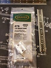 Weaver 47S Top Mount Base 48003 Silver Browning A-Bolt Scope Base