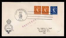Dr Who 1958 Gb Paquebot Orcades Ship San Francisco Ca Usa g09251